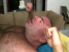 Straight client assfucks and jizzes gay masseur