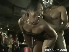 Wild Women Finishing Party With Strippers In Club