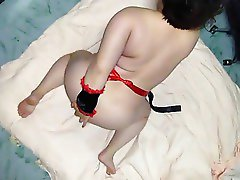 Chubby China Girl Dressed as Nurse Ass Fingering
