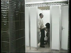 German short 1: Two quickies at the restroom