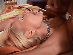 Beautiful and sexy blonde dutch lady gets a facial