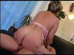 Granny in Glasses and Stockings Suck and Fuck