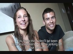 First porn movie young couple from Barcelona