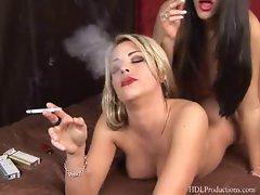 Leah Jaye - Smoking Fetish at Dragginladies