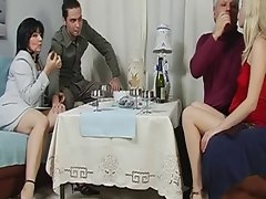 Dad&amp,#039,s birthday becomes an orgy