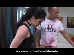 Rocco Siffredi Feeds her a Banana and then his Cock!