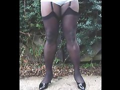 TGirl Local Park &amp, Stockings 050xh