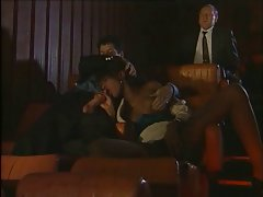 Ebony fucked by young and old in the cinema (vintage)
