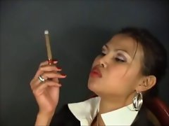 Blouse Collar Up Smoking Girl