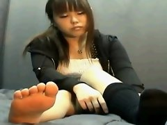Asia teen with socks