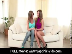 Young Lesbian Teen Babes Lick and Kiss 19