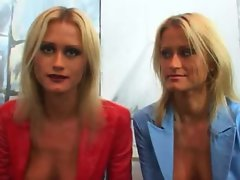 Twin sisters Misha and Sasha threesome