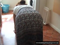 Upskirt British granny lets me sniff her knickers for cash  www.beeg18.com