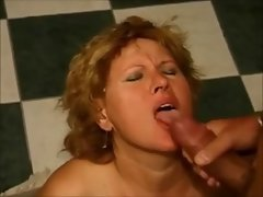 German Granny Cock sucking