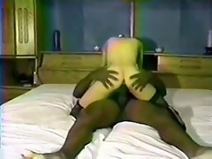 Black peckers fuck the white blond slutty wife and cum inside