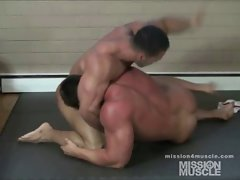 Gay Wrestling muscle worship