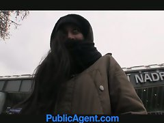 PublicAgent Homeless young lady gets screwed to pay for hotel