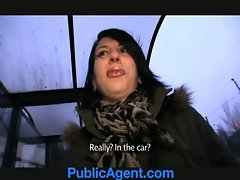 PublicAgent Jana bangs me in the car for money