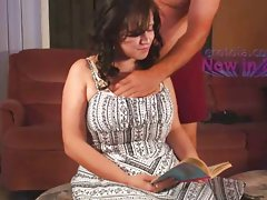 Big titted BoobieKat cannot sop reading while being groped