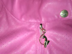 Attractive Pinky Baby Phat Leather Jacket
