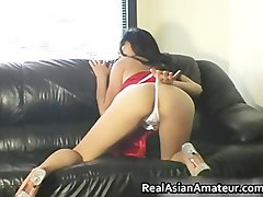 Natural perfect asian amateur demonstrates pantyhose part4