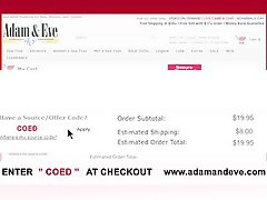 Quality Adult sexual objects AdamAndEve.com Coupon Code COED HALF OFF w/ FREE Shipping