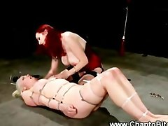 Master queens her pathetic slave as her punishment