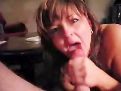 Brief Clip of Filthy Filthy bitch Amateur Licking Phallus Eating Cum