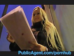 PublicAgent Blond with Huge Knockers win iPad