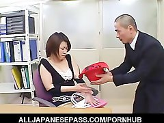 Jap fantasy puma in a cowgirl suit toys her twat