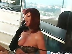 Fantasic juggs red head tramp smoking bdsm part2