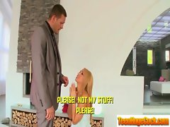 Big titted Raunchy teen Love Hard shaft In Every Hole movie-01