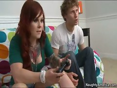 Misti Dawn playing video games