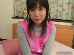 Comely asian schoolgirl gets a warm