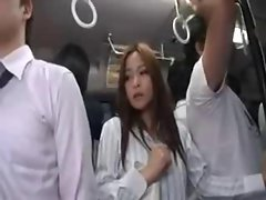 Travel in a Seductive japanese Bus
