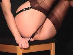 Une seance photo fetish Bas Collants