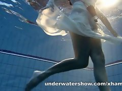 Andrea demonstrates awesome body underwater