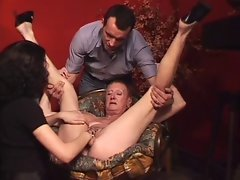 Heavy pierced granny MILG fisted and banged rough