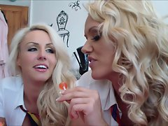 danni and lucy tease teacher