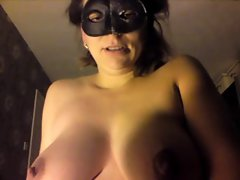 Sensual amateur masked slutty wife rides until she cums orgasm