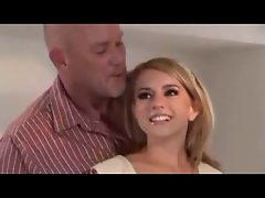 Lexi is dominated by a happy bald fellow