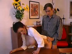 Large melons secretary banging her boss
