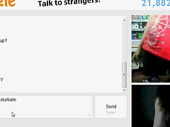 barely legal seductive teen play with artificial cutie on omegle while working
