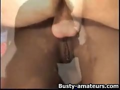 Slutty ebony Sierra assfuck by an older dude