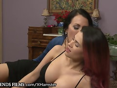 Lez Mummy Makes Latina Snatch Cum & Not Taking Underpants Off