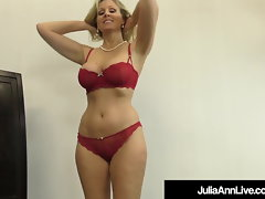 Amazing Cougar Julia Ann Jacks A Pink cigar Into Her Mouth & Hands!