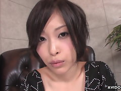 Big titted Seductive japanese young woman Saki Otsuka gives head in Point of view