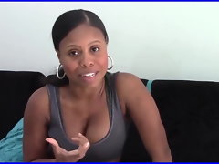 Ebony Latina milking her perky knockers 2